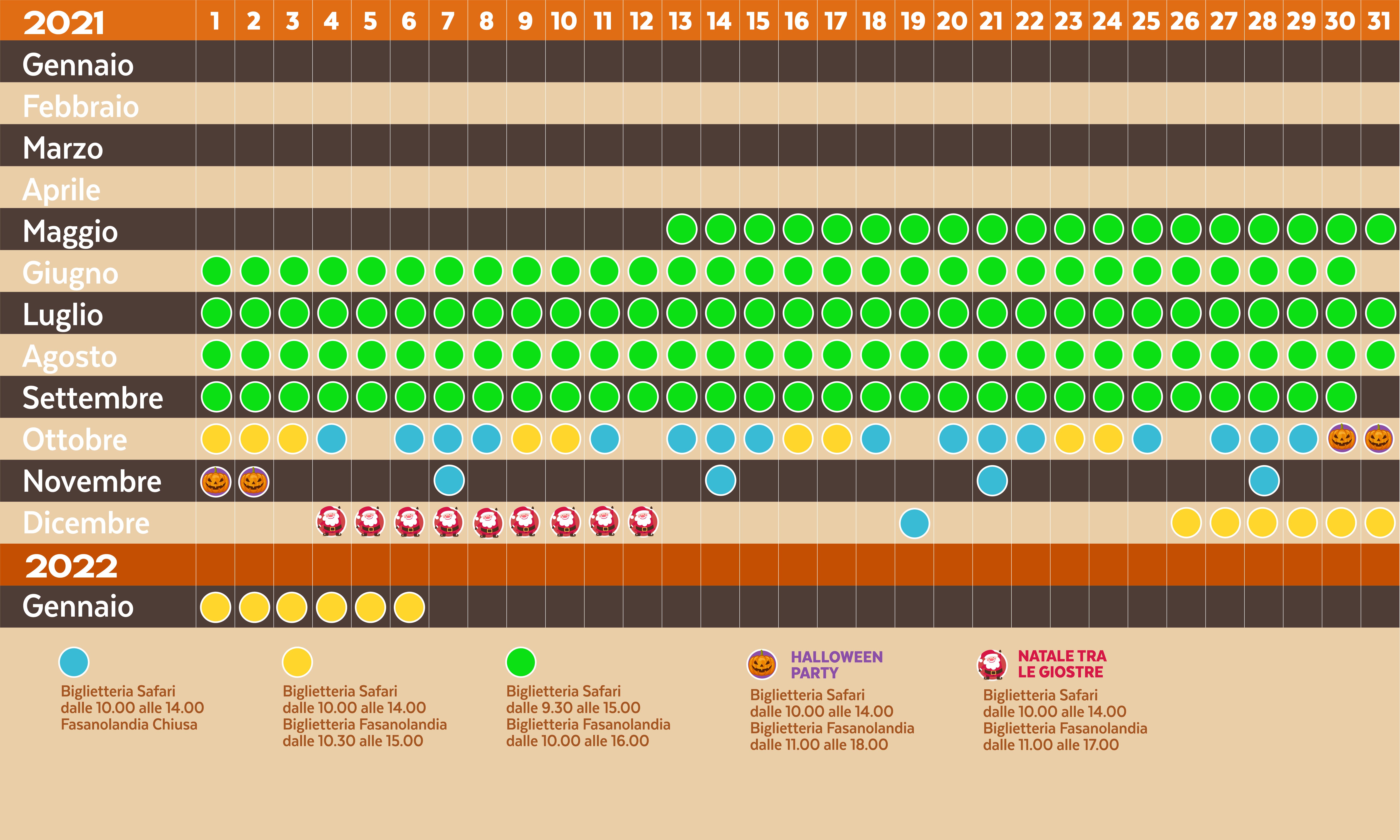 calendario zoosafari 2021
